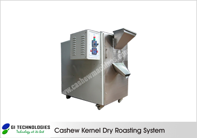 Cashew Kernel Dry Roasting System