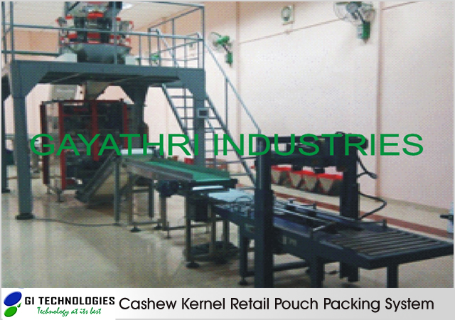 Cashew Kernel Retail Pouch Packing System