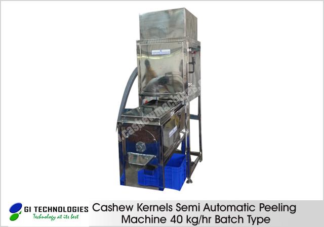 Cashew Kernels Semi Automatic Peeling Machine 40 kg