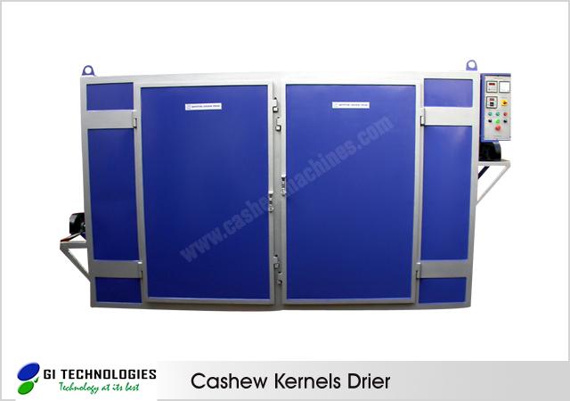 Cashew Kernels Tray Drier
