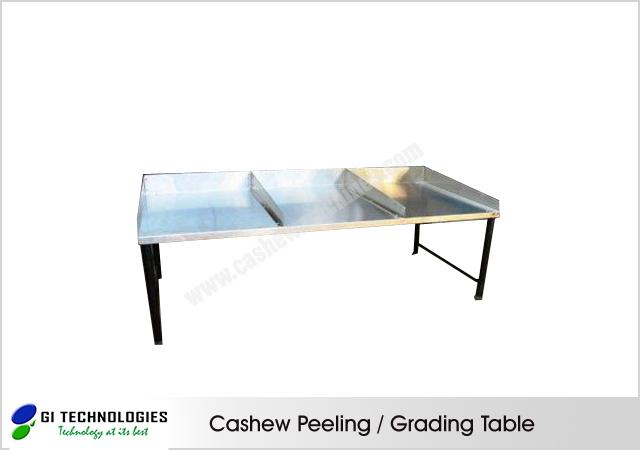 Cashew Peeling / Grading Table